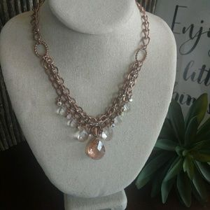 2028 Rose Gold multi strand Necklace adjustable